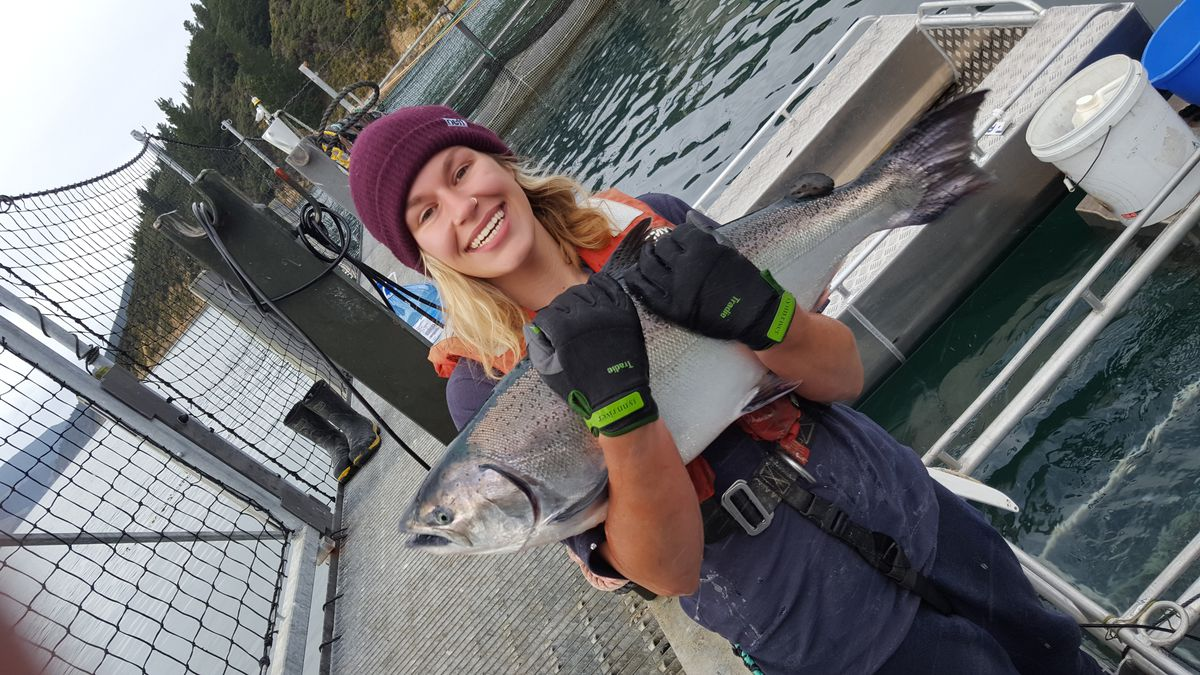 Ally Perkins NZKS Fish Health & Welfare Specialist