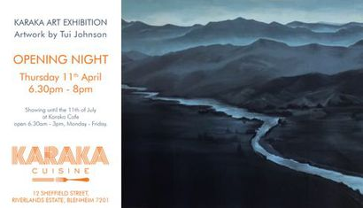 Karaka Art Exhibition - Works by Tui Johnson image