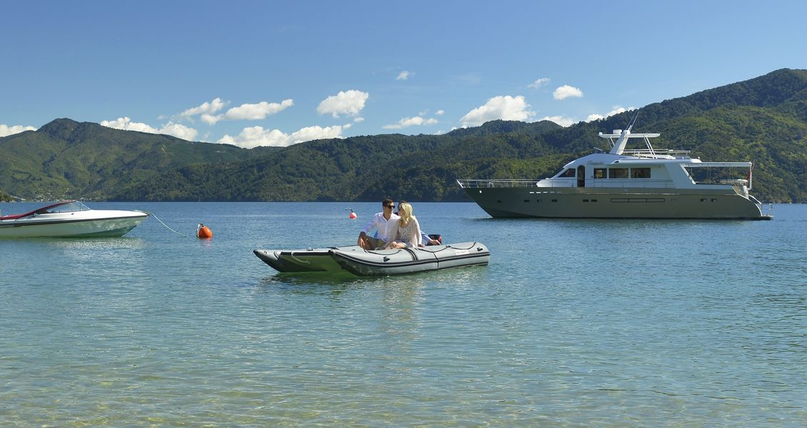 Discover secluded bays aboard a luxury launch in New Zealand's Marlborough Sounds