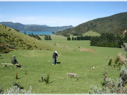 Nopera Golf Course in Marlborough's Kenepuru Sound, New Zealand
