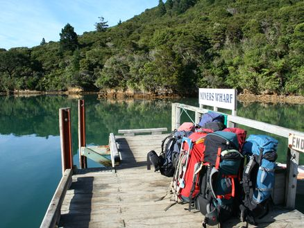 Luggage transfers to your next night's accommodation available along the Queen Charlotte Track in the Marlborough Sounds, New Zealand