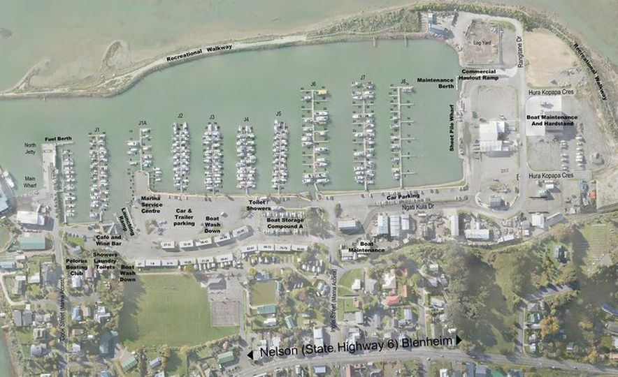 Havelock Marina map