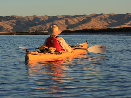 Kayaking in the Wairau Lagoons, Marlborough, New Zealand