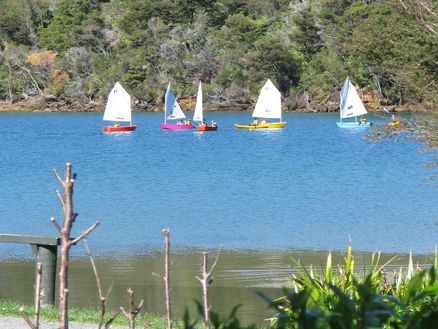 Mistletoe Bay in the Marlborough Sounds is a popular bay for school and group visits