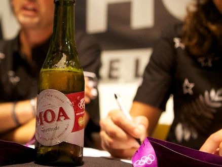 Moa beer, brewed in Marlborough